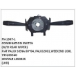 735265340, KOSTAL# 1450025, COMBINATION SWITCH, FN-1367-1 for FIAT PALIO, SIENA 2000~2004, PALIO 2001, WEEKEND 2001, (W/O REAR WIPER) BLACK