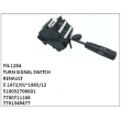 510032706601, 7700711168, 7701349477 , TURN SIGNAL SWITCH, FN-1284 for RENAULT, 5 1972/01~1985/12
