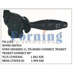 YC1T-17A553AC, 1062328, 1093426, 98AG-17A553-AC WIPER SWITCH, FN-1163 for FORD MONDEO III, TOURNEO CONNECT, TRANSIT, TRANSIT CONNECT 00~
