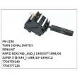 7700759249, 7700777226, TURN SIGNAL SWITCH, FN-1286 for RENAULT, RAPID BOX (F40_,G40_) 1985/07~1998/03, SUPER 5 (B/C40_) 1984/10~1996/12