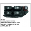 88894539, 19244651, 10291789, SW5740, DS1437S, POWER WINDOW SWITCH, FN-1103 for CHEVROLET 95~01, PONTIAC 02~04