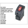 62 40 140, 12 41 288, 12 41 660, 12 41 677, 09 138 045, 90436896, 90434384, WARNING LAMP SWITCH, FN-1138-6 for COMBO BOX, CORSA B HATCHBACK, BOX, TIGRA COUPE