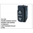 X7V8601021, LIGHT ORANGE OR BLUE, POWER WINDOW SWITCH, FN-1260 for PEUGEOT 206 SAMAND