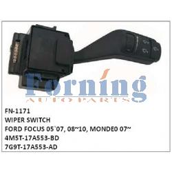4M5T-17A553-BD, 7G9T-17A553-AD WIPER SWITCH, FN-1171 for FORD FOCUS 05`07, 08~10, MONDE0 07~