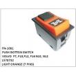 1578732, LIGHT ORANGE, PUSH BOTTON SWITCH, FN-1081 for VOLVO  F7, F10,F12, F16 N10, N12