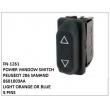 8601003AA, LIGHT ORANGE OR BLUE, POWER WINDOW SWITCH, FN-1261 for PEUGEOT 206 SAMAND
