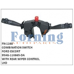95AG-11K665-DA COMBINATION SWITCH,	FN-1168	for	FORD ESCORT WITH REAR WIPER CONTROL