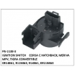 0914861, 9115863, 914861, 09115863, IGNITION SWITCH, FN-1138-3 for CORSA C HATCHBACK, MERIVA MPV, TIGRA CONVERTIBLE