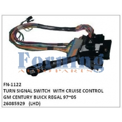 26085929 TURN SIGNAL SWITCH FN-1122 for GM CENTURY BUICK REGAL WITH CRUISE CONTROL 97~05