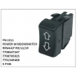7700637247, 7700705925, 7701349408, POWER WINDOW SWITCH, FN-1311 for RENAULT , R9/12/19