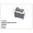 6551.21, POWER WINDOW SWITCH, FN-1230 for PEUGEOT